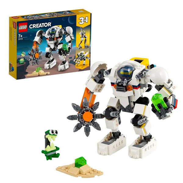 Купить LEGO Creator 31115 Конструктор ЛЕГО Криэйтор Космический робот для горных работ, Конструкторы LEGO