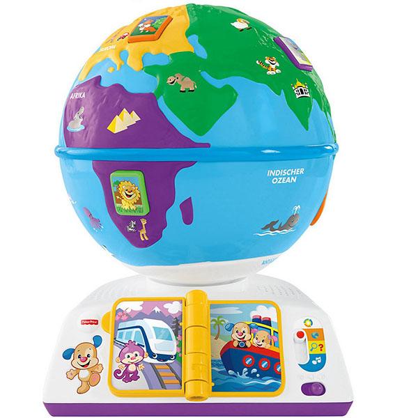 Купить Mattel Fisher-Price DRJ90 Фишер Прайс Смейся и учись Обучающий Глобус, Игрушка для малышей Mattel Fisher-Price