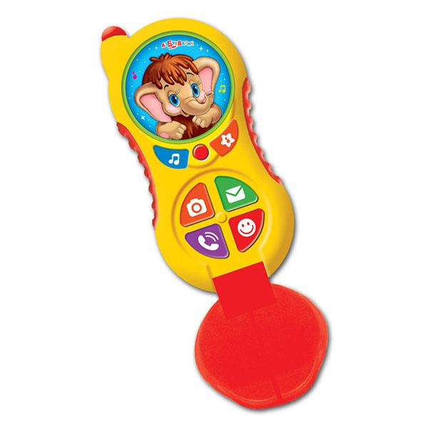 Купить Азбукварик 2007AZ Телефончик Мамонтенка Алло-алло , Развивающие игрушки для малышей Азбукварик