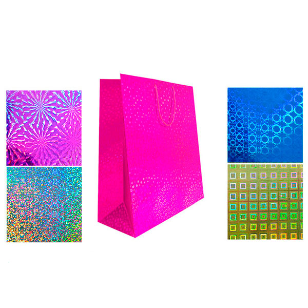 Пакет подарочный, голография TZ9504 (47*40*14 см)