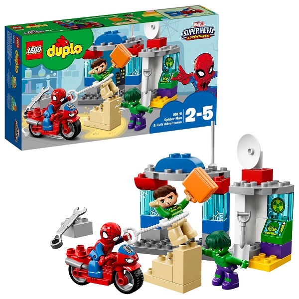 Lego Duplo 10876 Супер Герои: Приключения Человека-паука и Халка - Конструкторы LEGO
