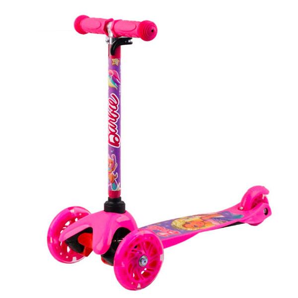 Barbie B4PV1 Самокат 3-х колесный c 3D-эффектом, розовый, размеры: 55х21,5х67см - Отдых и спорт
