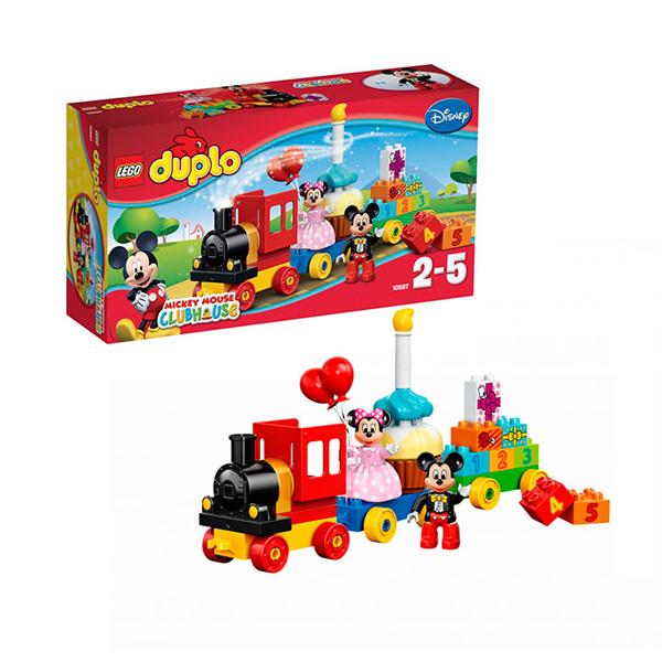 Купить LEGO DUPLO 10597 Конструктор ЛЕГО ДУПЛО День рождения с Микки и Минни, Конструктор LEGO