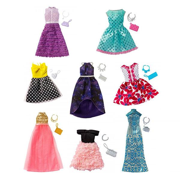 Купить Mattel Barbie FCT22 Барби Универсальные праздничные платья (для всех типов фигур) (в ассортименте), Кукла Mattel Barbie