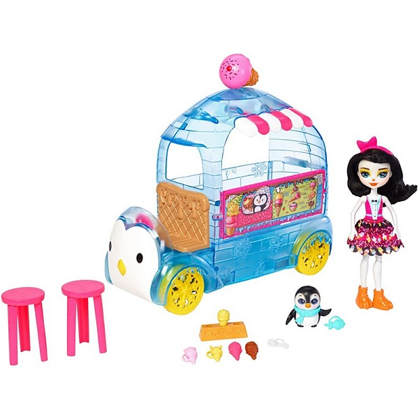 Купить Mattel Enchantimals FKY58 Игровой набор Фургончик мороженого Прины Пингвины , Игровые наборы и фигурки для детей Mattel Enchantimals