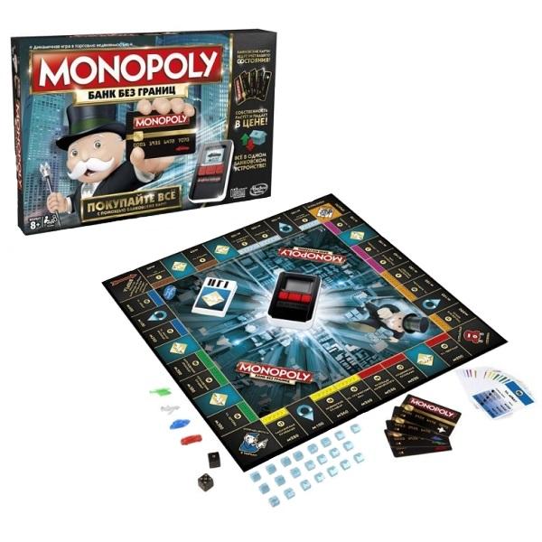 Купить Hasbro Monopoly B6677 Монополия с банковскими картами (обновленная), Настольная игра Hasbro Monopoly