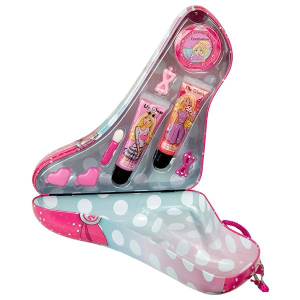 Markwins 9600751 Barbie Набор детской декоративной косметики в туфельке розовый