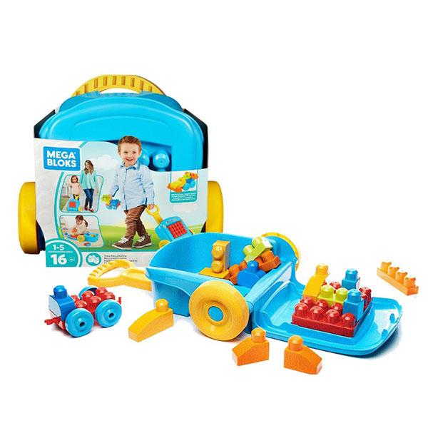 Mattel Mega Bloks FLT37 Мега Блокс Мобильный конструктор Чемоданчик - Игрушки для малышей