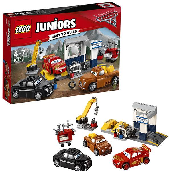 Lego Juniors 10743 Конструктор Лего Джуниорс Тачки Гараж Смоуки, арт:148590 - Джуниорс, Конструкторы LEGO