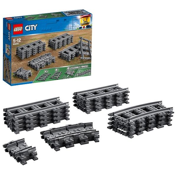 Купить LEGO City 60205 Конструктор ЛЕГО Город Рельсы, Конструкторы LEGO