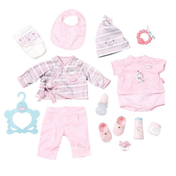 Купить Zapf Creation Baby Annabell 700-181 Бэби Аннабель Супернабор с одеждой и аксессуарами, Одежда для куклы Zapf Creation