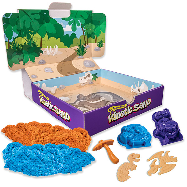 Купить Kinetic sand 71415 Кинетик сэнд Игровой набор Кинетический песок c формочками (в ассортименте), Кинетический песок Kinetic sand