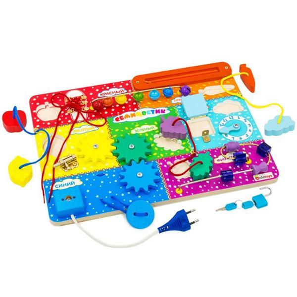 Купить Alatoys 315ALLA Бизиборд Семицветик , Развивающие игрушки для малышей Alatoys