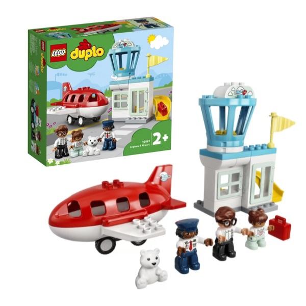 Купить LEGO DUPLO 10961 Конструктор ЛЕГО ДУПЛО Самолет и аэропорт, Конструкторы LEGO