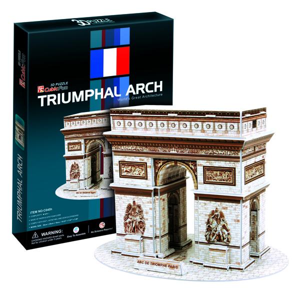 Купить Cubic Fun C045h Кубик фан Триумфальная арка (Париж), 3D пазлы Cubic Fun