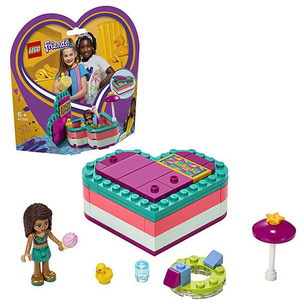 Купить LEGO Friends 41384 Конструктор ЛЕГО Подружки Летняя шкатулка-сердечко для Андреа, Конструкторы LEGO