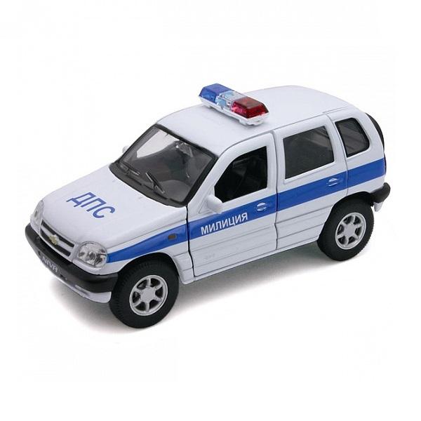 Купить Welly 42379PB Велли Модель машины 1:34-39 Chevrolet Niva МИЛИЦИЯ ДПС, Машинка Welly