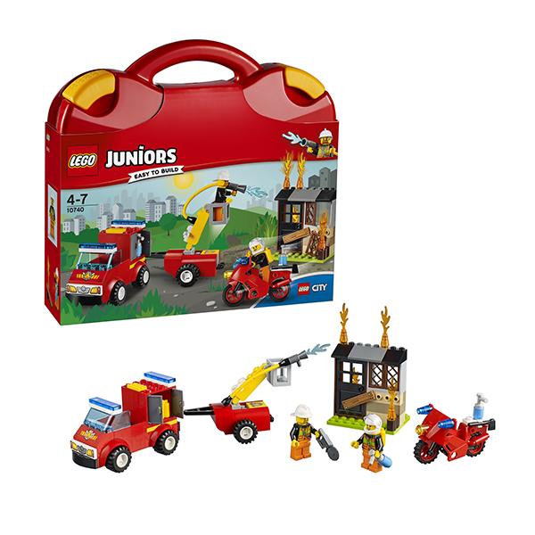 Lego Juniors 10740 Конструктор Лего Джуниорс Чемоданчик Пожарная команда, арт:145745 - Джуниорс, Конструкторы LEGO