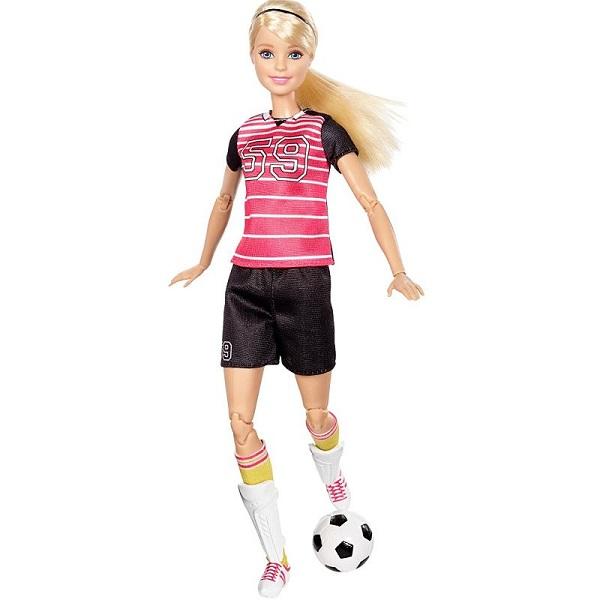 Mattel Barbie DVF69 Барби Футболистка, арт:155211 - Barbie, Куклы и аксессуары