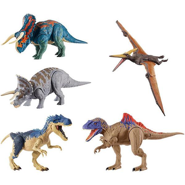 Купить Mattel Jurassic World GDT38 Базовые фигурки динозавров Двойной удар (в ассортименте), Игровые наборы и фигурки для детей Mattel Jurassic World