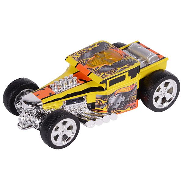 Hot Wheels HW90564 Машинка Хот вилс на батарейках со светом механическая, желтая 14 см, Машинка Toy State  - купить со скидкой