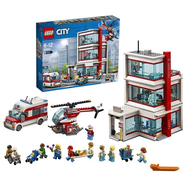 Купить LEGO City 60204 Конструктор ЛЕГО Город Городская больница, Конструкторы LEGO