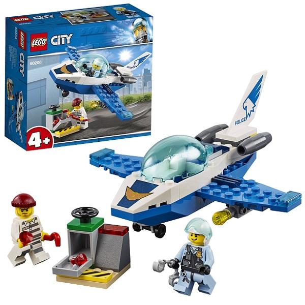 Купить Lego City 60206 Конструктор Лего Город Воздушная полиция: Патрульный самолёт, Конструкторы LEGO