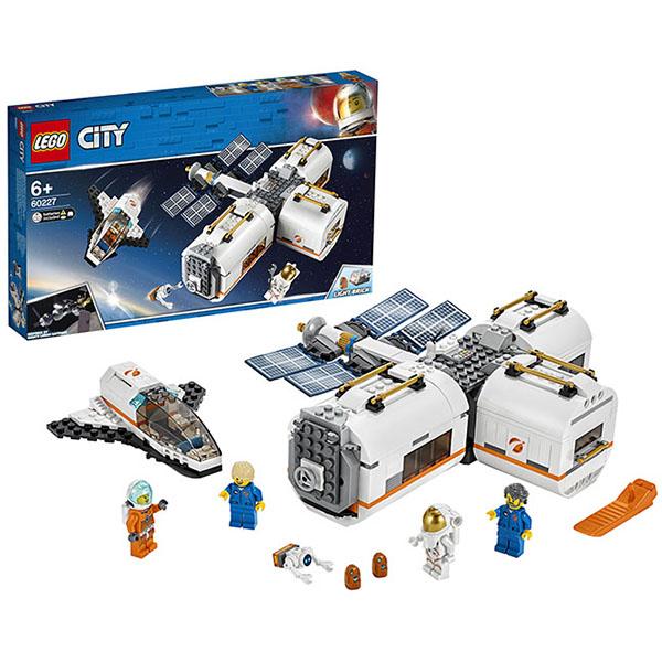 Купить LEGO City 60227 Конструктор ЛЕГО Город Лунная космическая станция, Конструктор LEGO