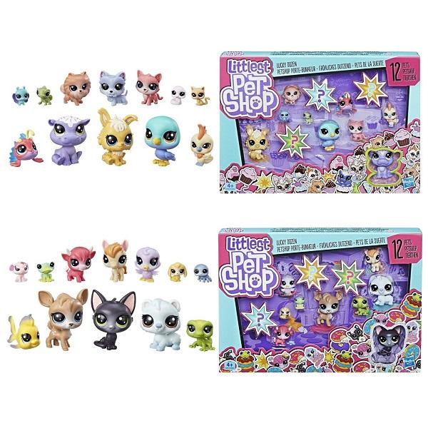 Купить Hasbro Littlest Pet Shop E3034 Литлс Пет Шоп Игровой набор 12 счастливых петов , Игровые наборы и фигурки для детей Hasbro Littlest Pet Shop