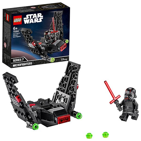 Купить LEGO Star Wars 75264 Конструктор ЛЕГО Звездные войны Микрофайтеры: шаттл Кайло Рена, Конструкторы LEGO