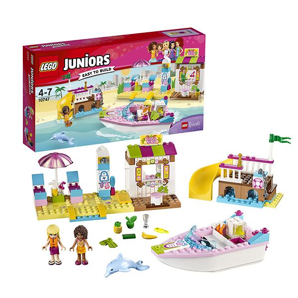 Lego Juniors 10747 Конструктор Лего Джуниорс День на пляже с Андреа и Стефани, арт:145743 - Джуниорс, Конструкторы LEGO