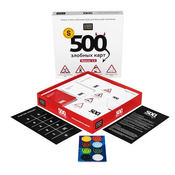 Купить Cosmodrome Games 52060 Настольная Игра 500 Злобных Карт Версия 3.0