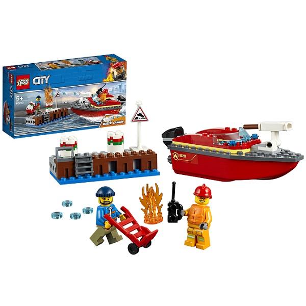 Купить Lego City 60213 Конструктор Лего Город Пожарные: Пожар в порту, Конструкторы LEGO