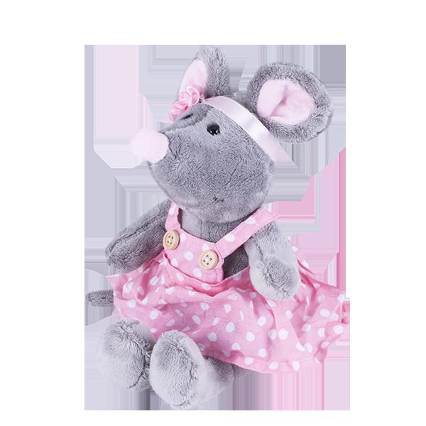 Мягкие игрушки SOFTOY — SOFTOY S872/15 Мягкая игрушка Мышка, 26см