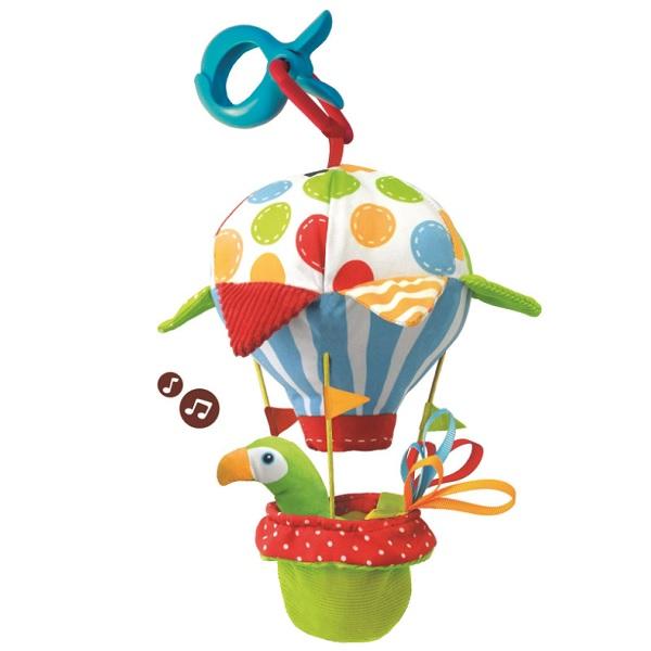 """Развивающие игрушки для малышей Yookidoo 40140 Игрушка мягкая музыкальная """"Попугай на воздушном шаре"""" фото"""