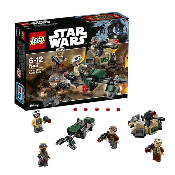 Lego Star Wars 75164 Конструктор Лего Звездные Войны Боевой набор Повстанцев, арт:145346 - Звездные войны, Конструкторы LEGO