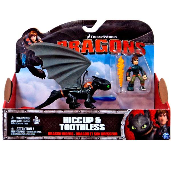 Dragons 66594-Toot2  Дрэгонс Набор дракон и всадник (Беззубик черный)