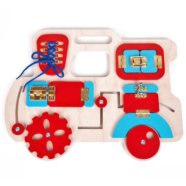 """Развивающие игрушки для малышей Десятое Королевство TD02101 Бизиборд """"Паровозик"""" фото"""