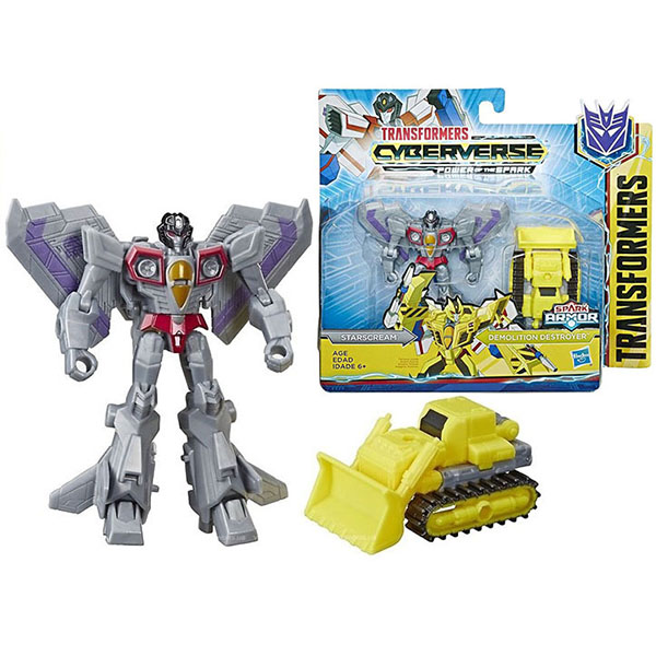 Купить Hasbro Transformers E4219/E4298 Трансформеры КИБЕРВСЕЛЕННАЯ СПАРК АРМОР Старскрим 13 см., Игрушечные роботы и трансформеры Hasbro Transformers
