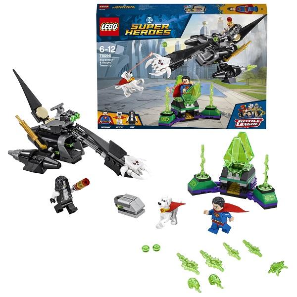 Купить LEGO Super Heroes 76096 Конструктор ЛЕГО Супермен и Крипто объединяют усилия, Конструкторы LEGO