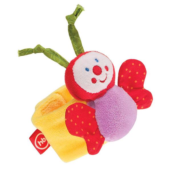 Купить Happy Baby 330347 Игрушка-погремушка на ручку Бабочка , Развивающие игрушки для малышей Happy Baby