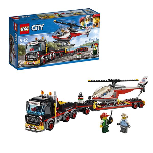 Купить LEGO City 60183 Конструктор ЛЕГО Город Перевозчик вертолета, Конструкторы LEGO