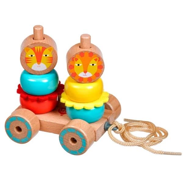 Купить Lucy&Leo LL155 Каталка-пирамидка Лев и Львица , Деревянные игрушки Lucy&Leo