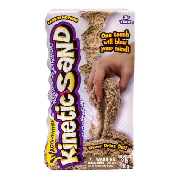 Купить Kinetic sand 71400 Кинетик сэнд Кинетический песок для лепки 910 грамм, коричневый, Набор для творчества Kinetic sand