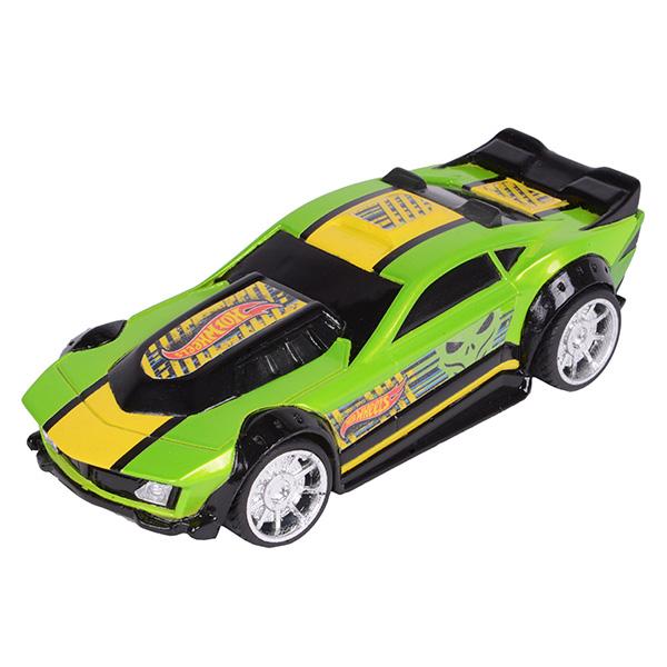 Купить Hot Wheels HW90563 Машинка Хот вилс на батарейках со светом механическая, зеленая 14 см, Машинка Toy State