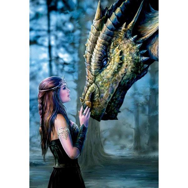 Купить Educa 17099 Пазл 1000 деталей Девушка и дракон , Пазлы Educa