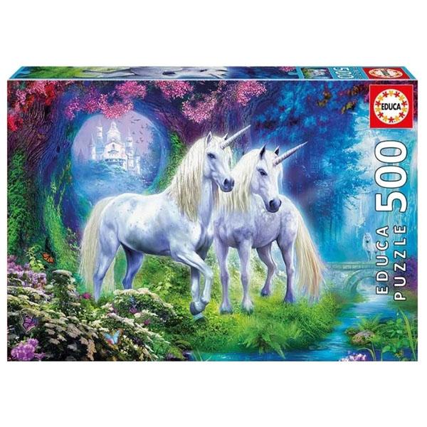 Купить Educa 17648 Пазл 500 деталей Единороги в лесу