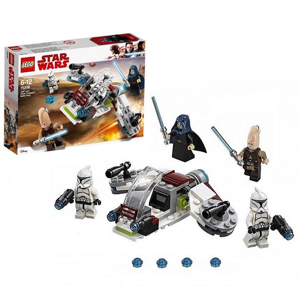 Купить Lego Star Wars 75206 Конструктор Лего Звездные Войны Боевой набор Джедаев и Клонов-Пехотинцев, Конструкторы LEGO