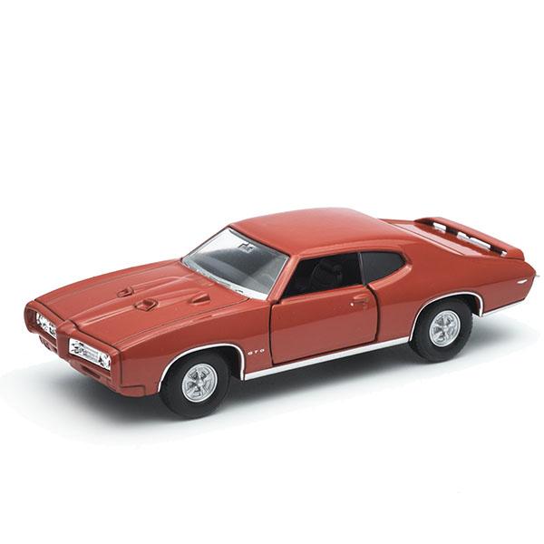 Игрушечные машинки и техника Welly 43714 Велли Модель винтажной машины 1:34-39 Pontiac GTO