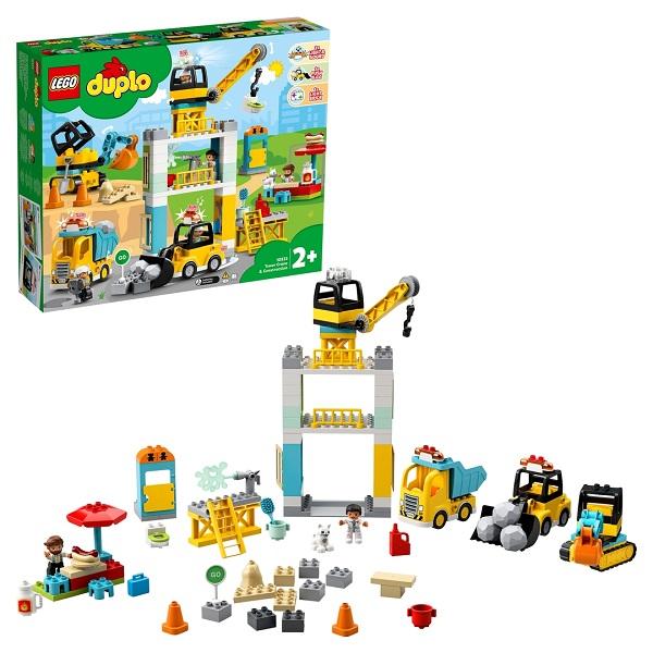 Конструкторы LEGO LEGO DUPLO Town 10933 Конструктор ЛЕГО ДУПЛО Башенный кран на стройке по цене 9 499